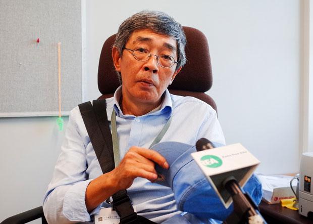 Returned bookseller Lam Wing-kei speaks to RFA in Hong Kong