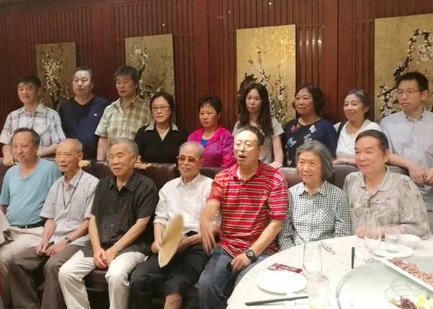 Staff of Chinese cutting edge political magazine Yanhuang Chunqiu at a gathering