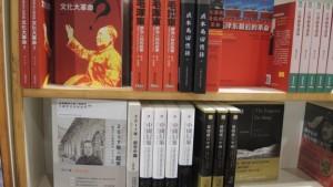 Political books on display at the Hong Kong book fair