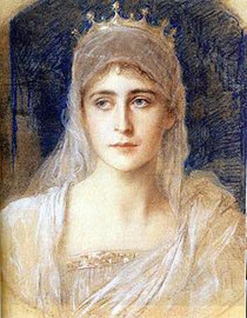 图二: 一幅当时人为出家前的伊丽莎白女大公绘的画像