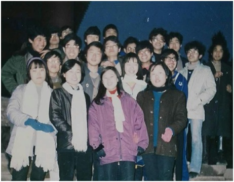 1989年2月,刘贤斌和部分同学聚会,预备迎接学潮到来。