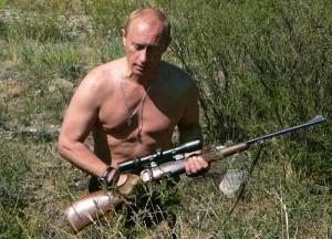 狩猎中的普京