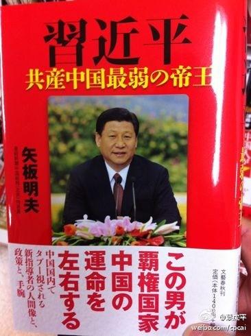 图片:矢板明夫著《习近平:共产中国最弱势的领袖》书封面(网络资料)