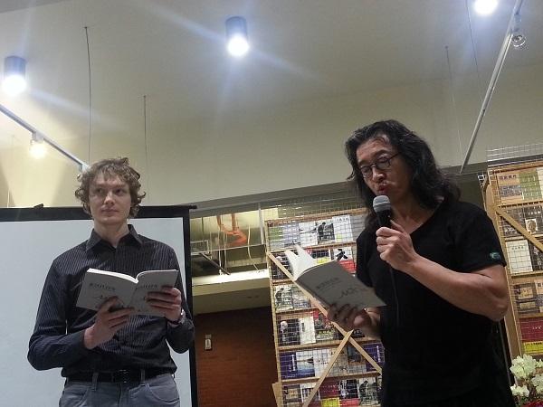 波兰华沙文化专员胡惟德与贝岭朗诵米沃什诗