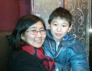 王宇和儿子包蒙蒙