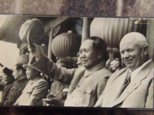 1954年赫鲁晓夫和毛泽东