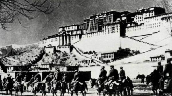1950年中国军队进入拉萨