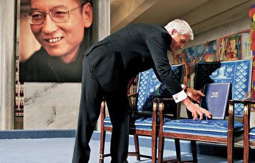 刘晓波-诺贝尔-空椅子