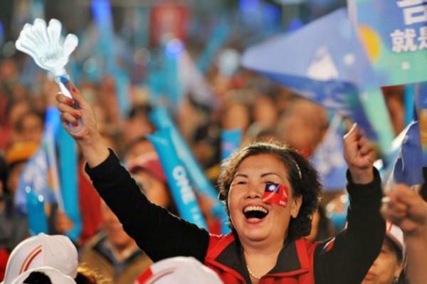 国民党总统候选人朱立伦的造势活动