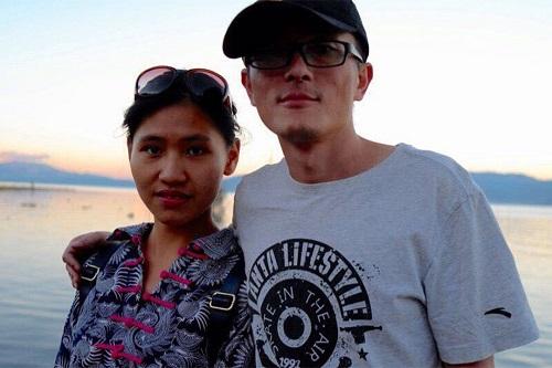 卢昱宇和他女友李婷玉。作者提供