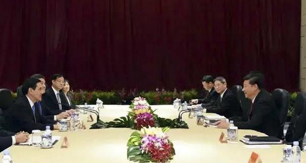 2015年11月7日下午3点,两岸领导人习近平与马英九在新加坡会面