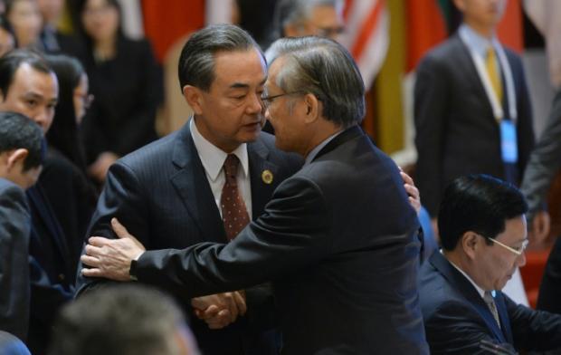 2016年7月25日,中国外交部长王毅在老挝万象出席东亚合作系列外长会