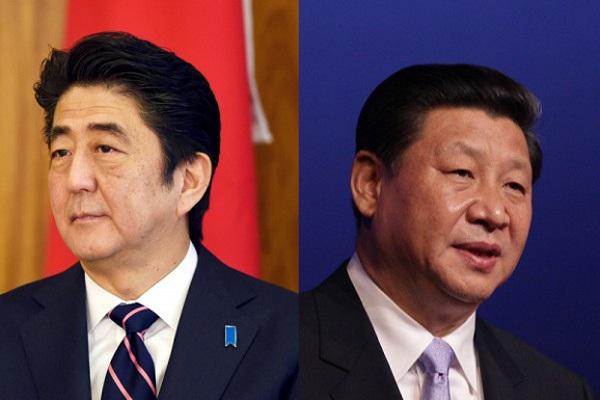 安培(左)和习近平