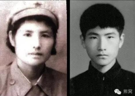 樊西曼与她的儿子曹滨海