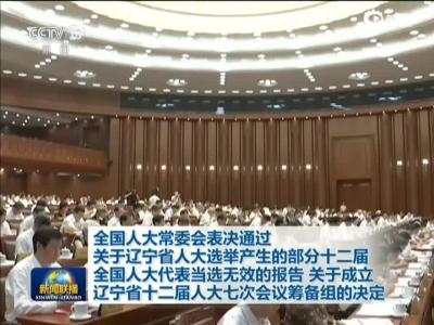 全国人大常委会临时开会审议查处辽宁拉票贿选案,宣布45名全国人大代表当选无效