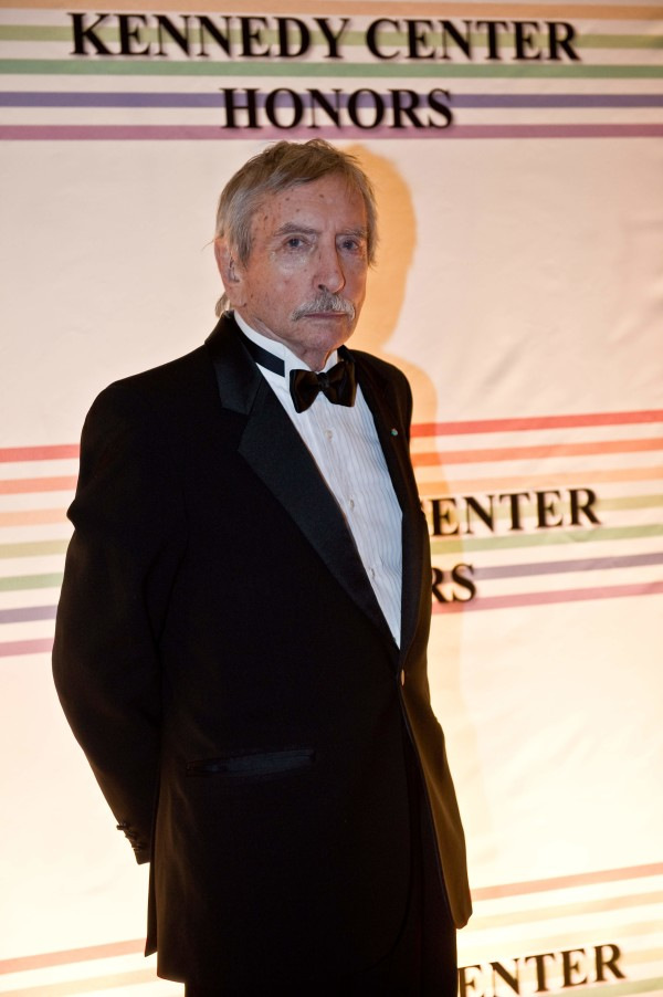 """This file photo taken on December 5, 2010 shows US playwright Edward Albee posing on the red carpet of the Kennedy Center Honors gala performance at the Kennedy Center in Washington, DC.          Pulitzer-winning US playwright Edward Albee, author of such masterpieces as """"Who's Afraid of Virginia Woolf?"""" died Friday at age 88, US media reported. / AFP PHOTO / NICHOLAS KAMM"""
