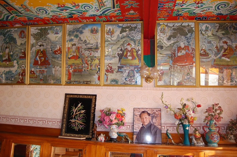 十七世噶华噶玛巴客厅里的锡金国王
