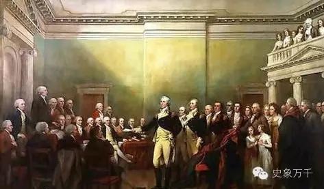 华盛顿向议会交出军权