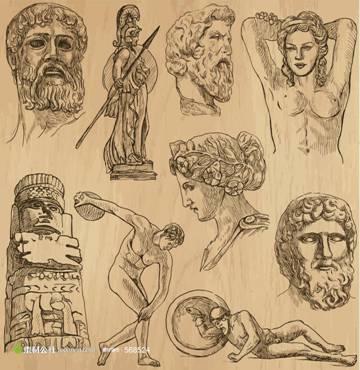 古希腊人物雕像