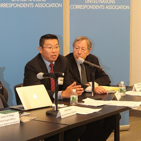 杨建利和加拿大原司法部长、议员、人权活动家Irwin Cotler
