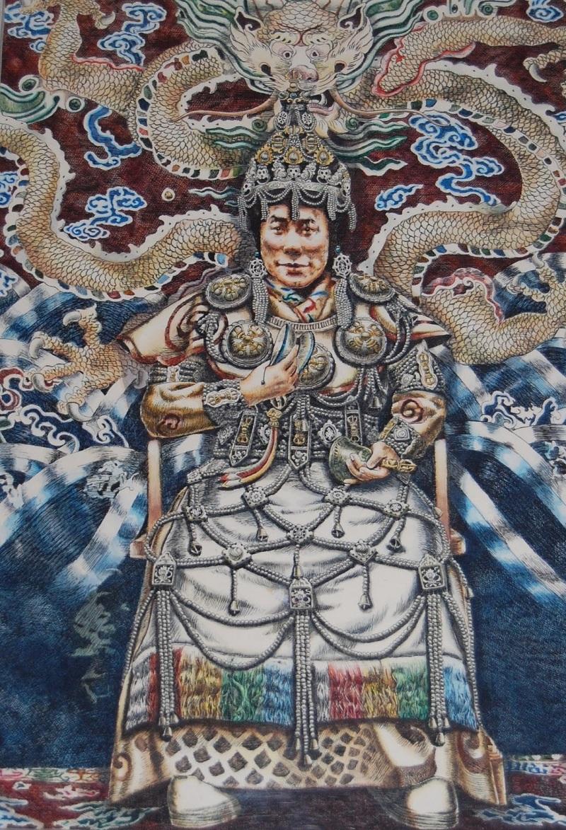达赖喇嘛(藏人绘制)