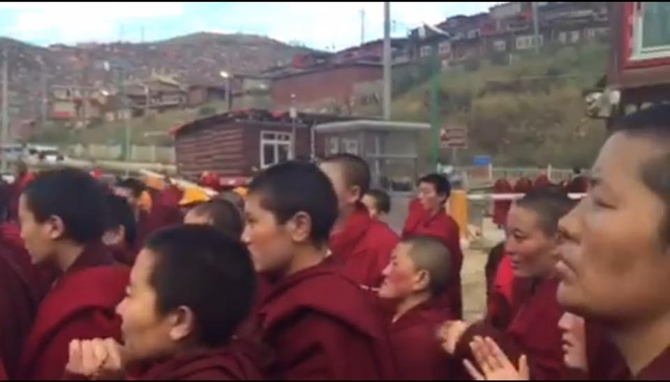 依依不舍地道别。默默地祈祷-西藏