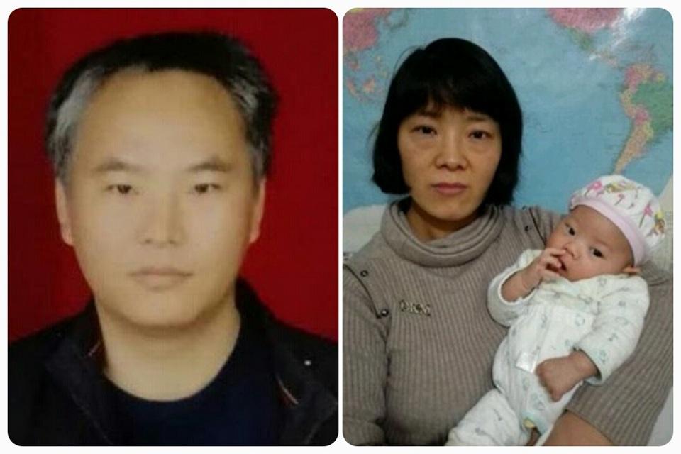张海涛和他的妻子及孩子