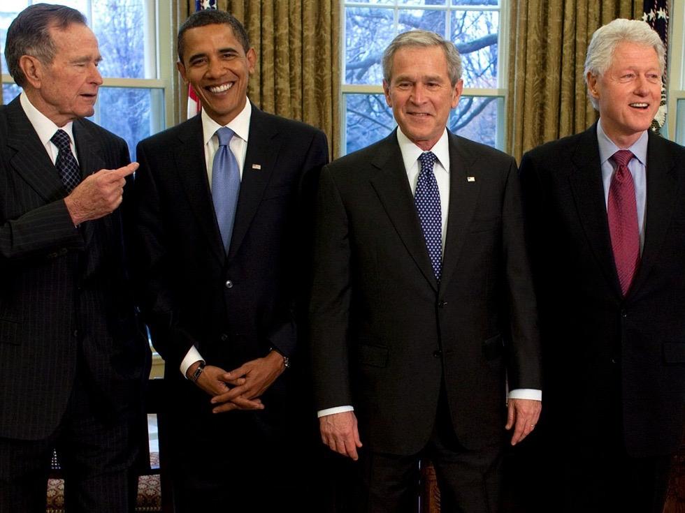 老布什、奥巴马、小布什、克林顿
