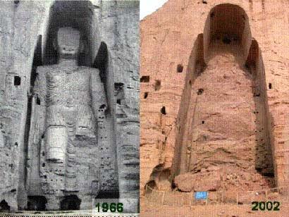 被摧毀的阿富汗巴米扬(Bamiyan)大佛