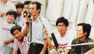 刘晓波、侯德健、高新、周舵六四四君子宣布绝食19890602