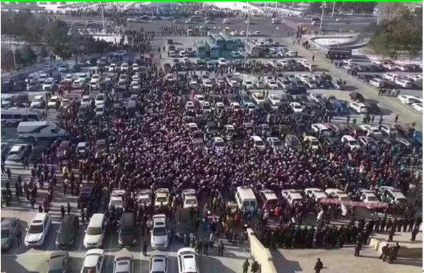大庆环保示威2