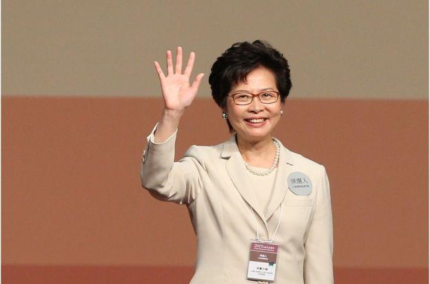 林郑月娥以777票胜出特首选举,成为香港特区第一名女性行政长官