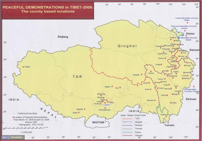 mapofuprisingintibet西藏地图