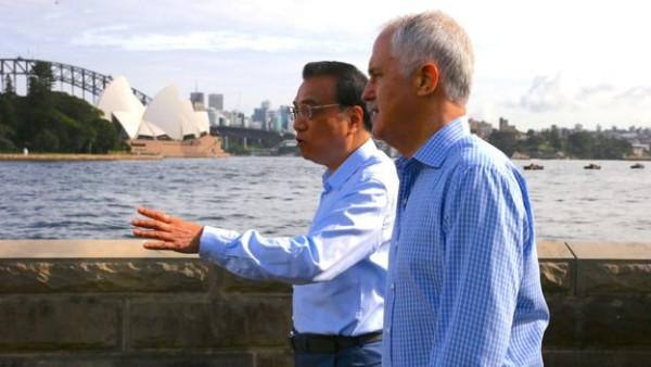 冯崇义事件正好发生在中国总理李克强访问澳大利亚之际