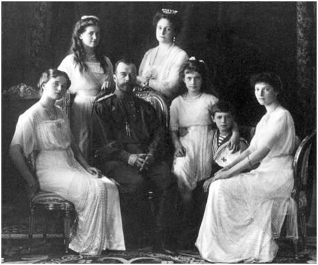 末代沙皇尼古拉二世一家