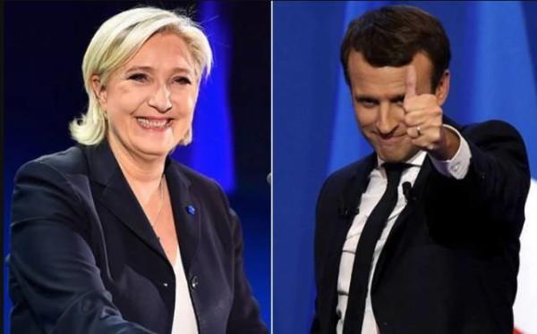法国总统候选人勒庞和马克龙
