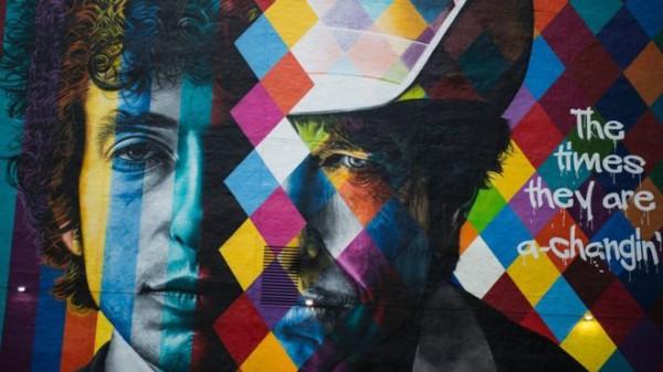 鲍勃•迪伦头像的新壁画