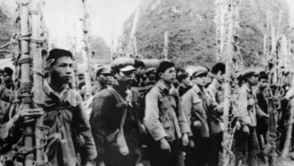 广西民兵组织的担架队