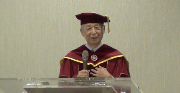 诺贝尔文学奖得主高行健获颁台师大名誉文学博士