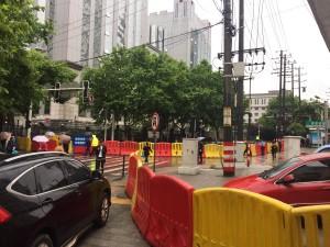 2017年5月8日湖南长沙中院外有交通管制