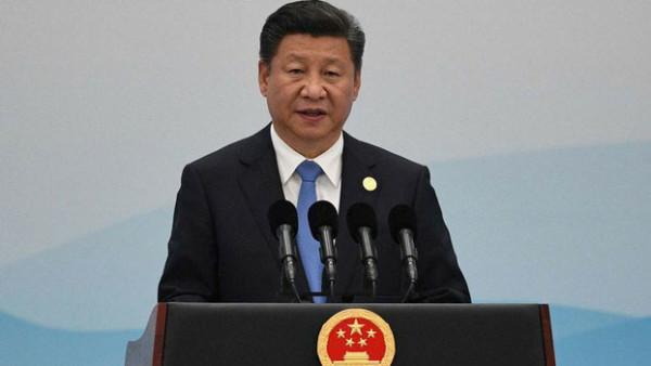 习近平在北京召开一带一路高峰论坛上