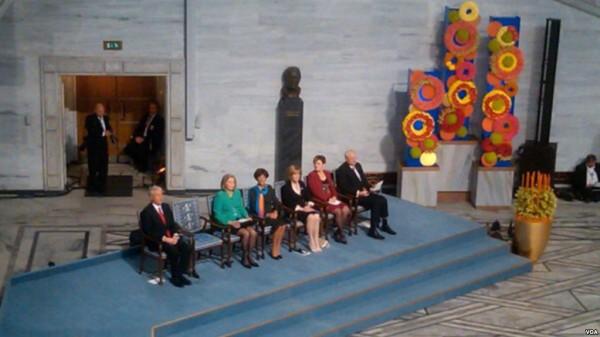 2010年诺贝尔和平奖颁奖典礼现场