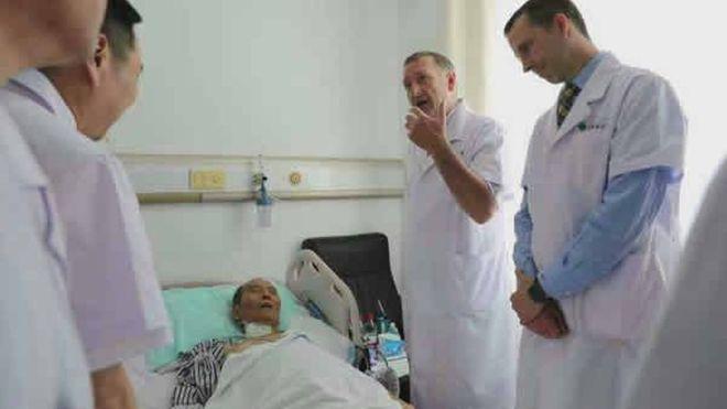 中国医科大学附属第一医院网站刊登的刘晓波会诊照片