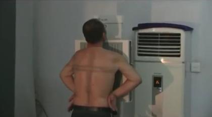 刘晓波在狱中视频截图