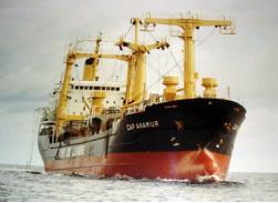 在南海救助难民船的德国远洋轮Cap Anamur