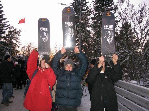 挪威人士要求释放刘晓波