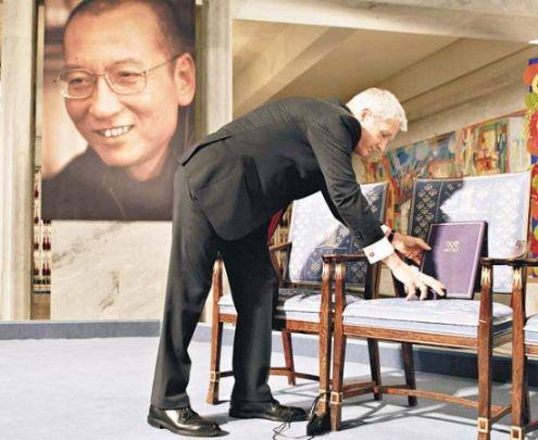 诺贝尔和平奖上刘晓波的空椅子