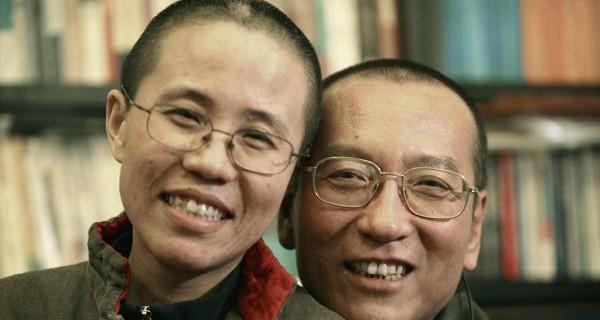 刘晓波和妻子刘霞(Public Domain)