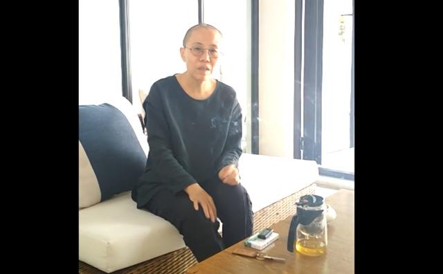 刘晓波海葬之后刘霞在视频中首度曝光