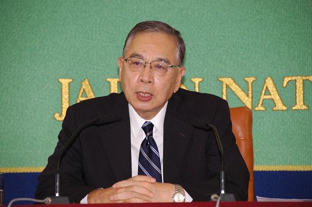 日本知华派外交官宫本雄二,来源:日本记者俱乐部